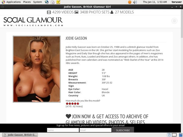 Accounts For Jodie Gasson