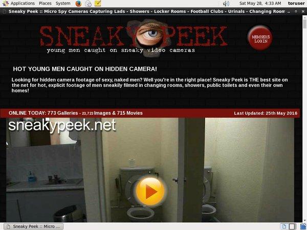 Sneaky Peek Site