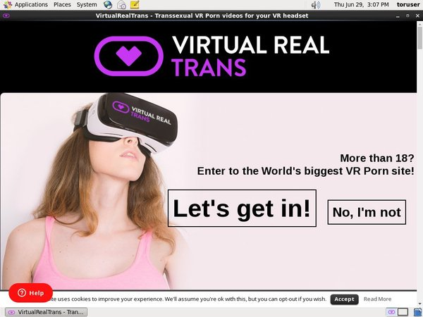 Virtual Real Trans New Account