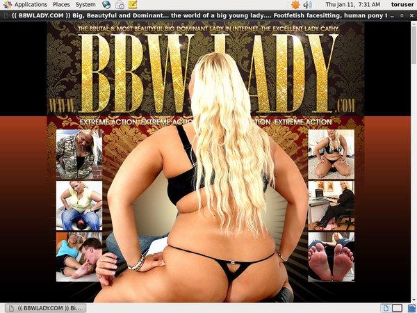 BBW Lady Betalen