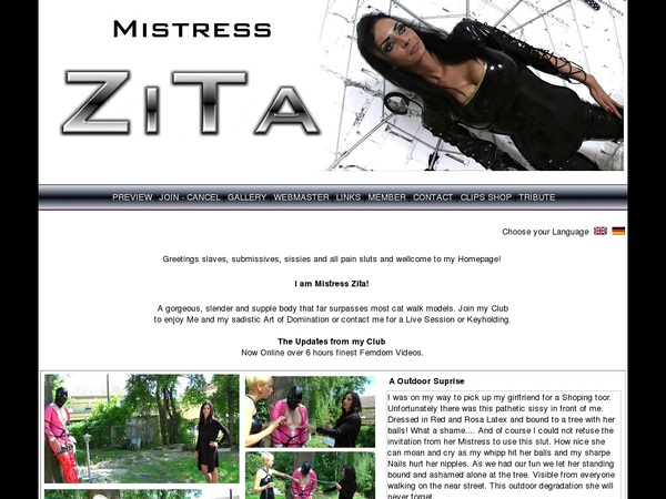 Premium Accounts Free Mistress Zita